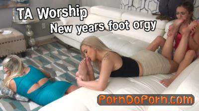 Naomi Swann, Ally, Nika Venom starring in New years foot orgy - TAWorship (FullHD 1080p)