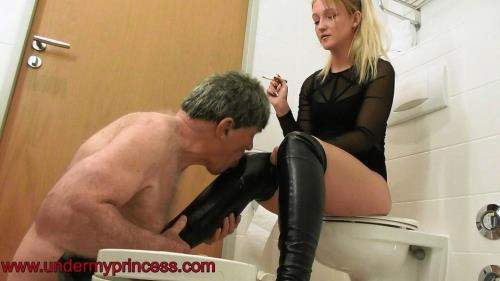Lisa starring in Spit And Boot Worship - Undermyprincess (FullHD 1080p)