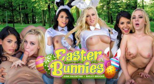 Bailey Brooke, Gina Valentina starring in Easter Bunnies - Remastered - WankzVR (UltraHD 2K 1920p / 3D / VR)